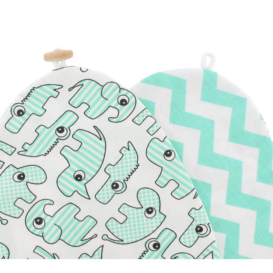 Babice Pokrowiec na poduszkę do karmienia - Zoo kolor miętowy