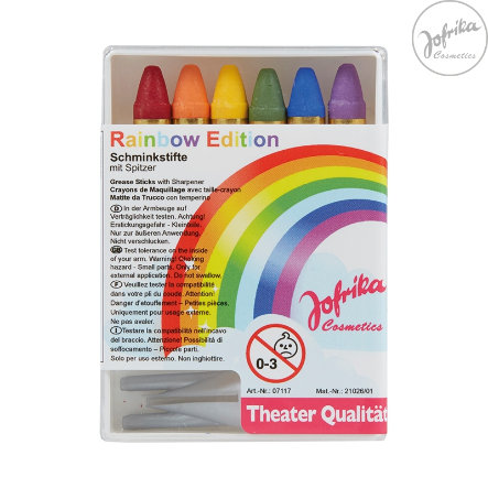 Jofrika Schminkstifte 6er Regenbogen