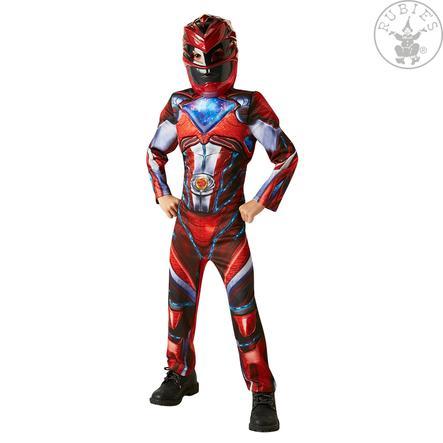 Robijnen Carnaval Kostuum Rood Power Ranger Deluxe