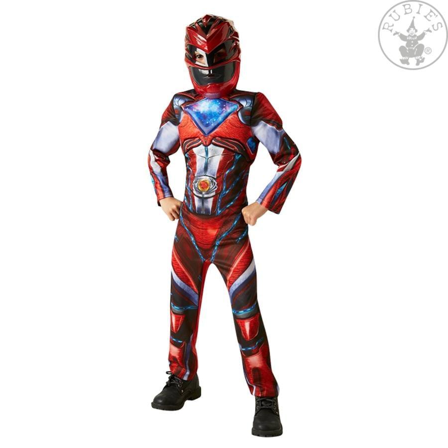 Rubies Karnevalskostüm Roter Power Ranger Deluxe