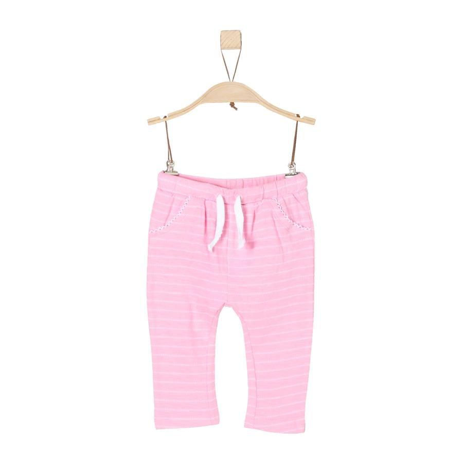 s.Oliver Girl s Spodnie fioletowe/różowe paski