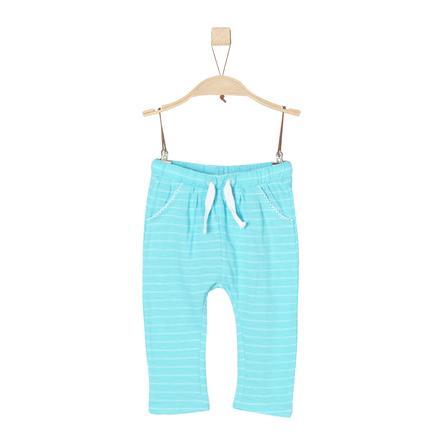 s.Oliver Girl s Pantaloni a strisce blu-verde