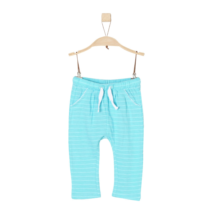 s.Oliver Girls Bukser blågrønne striper