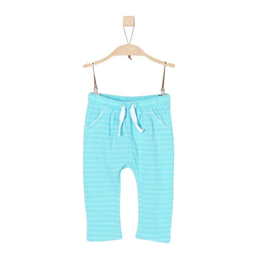 s.Oliver Girls Hose blue green stripes