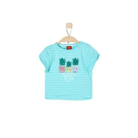 s.Oliver Girl s T-Shirt niebieskie zielone paski.