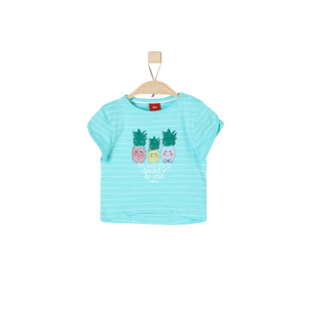 s.Oliver Girls T-Shirt blue green stripes