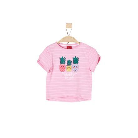 s.Oliver Girl s T-Shirt violet/rose rayures