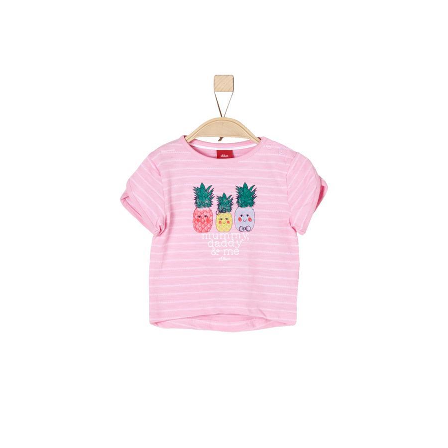s.Oliver Girl T-Shirt fioletowe/różowe paski