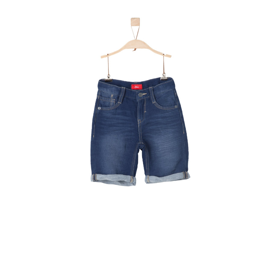 s.Oliver Boys Bermuda blue denim non stretch