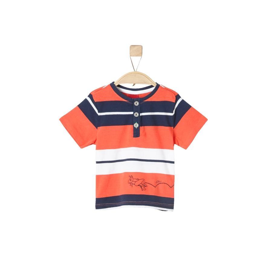 s.Oliver Boys T-Shirt paski ciemnopomarańczowe
