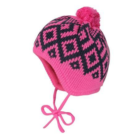 maximo Girls Mütze Rhomben pink