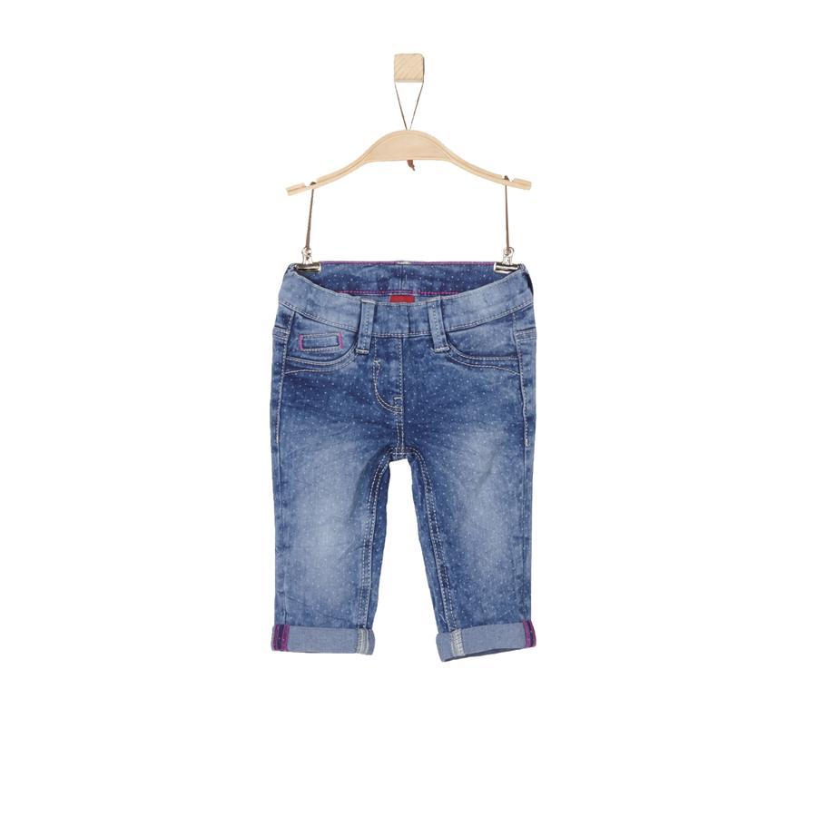 s. Olive r Girls Spodnie Capri Blue Denim Slim slim