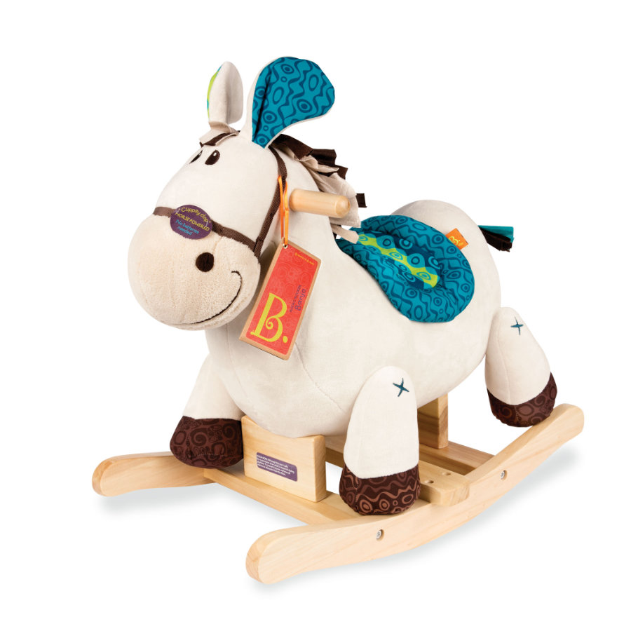 B. speelgoed Schommelend Paard met Rocking Horse blauw