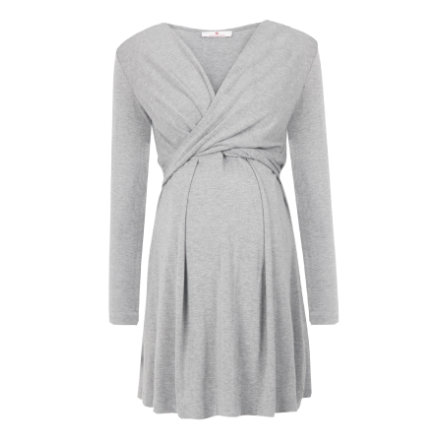 bellybutton těhotenské stylové šaty ALINA, šedivé, 2018