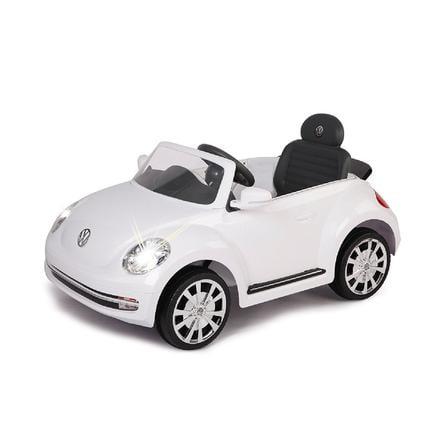 JAMARA Voiture électrique enfant Ride-on VW Beetle, blanc