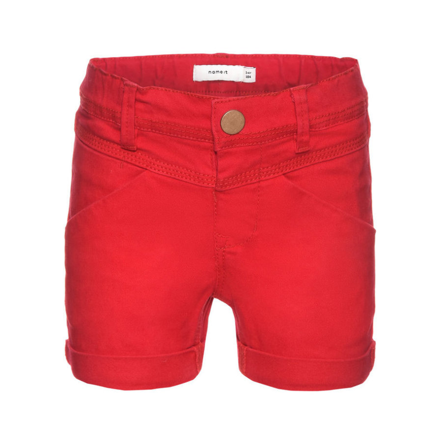 name it Girls Shorts Aline tango red