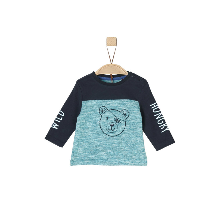 s.Oliver Boys Chemise manches longues bleu vert rayures multicolores