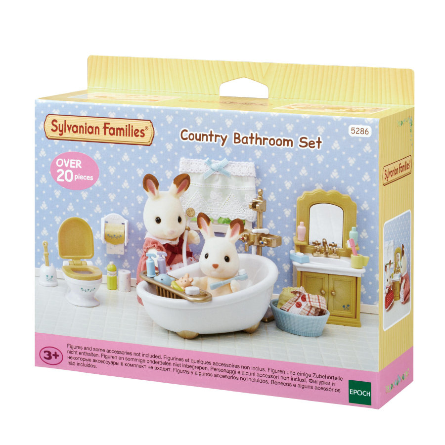 sylvanian families m bel sets badezimmer im landhausstil. Black Bedroom Furniture Sets. Home Design Ideas