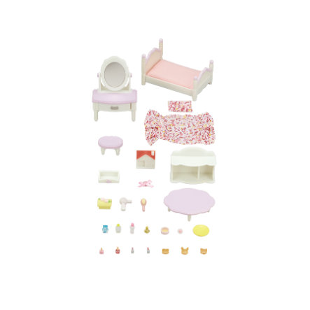 Sylvanian Families® Meubelset - Slaapkamer en make-up set
