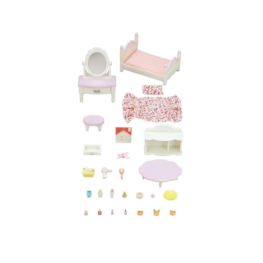 Sylvanian Families® Møbel-Sets - Soveværelse og sminkesæt