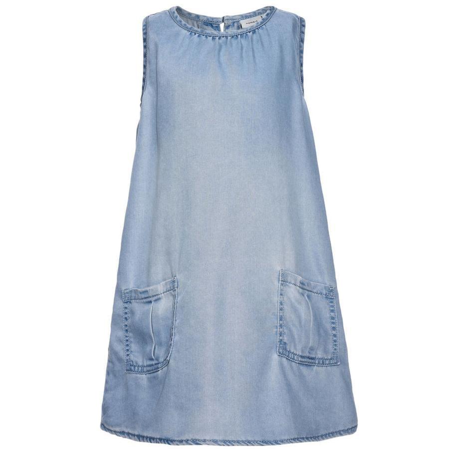 name it Dress Belga ljusblå denim