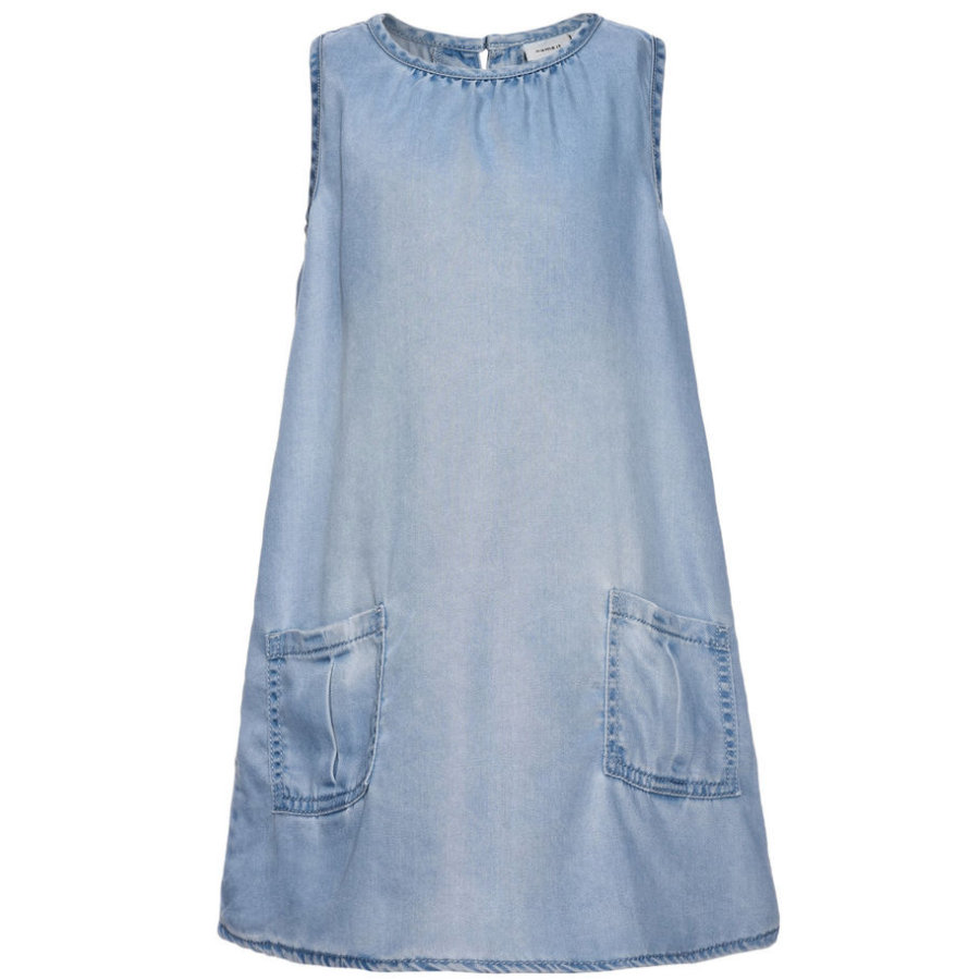 name it Girls Kleid Belga light blue denim