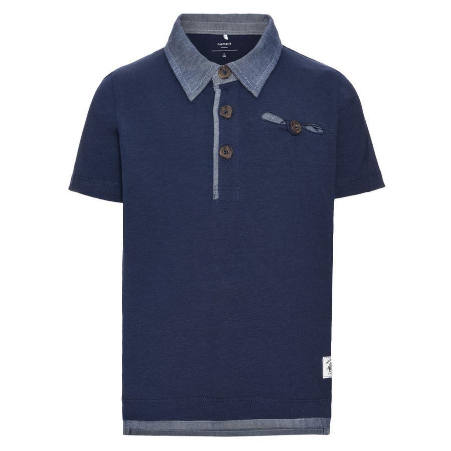 name it Boys Poloshirt Greg robe bleu bleuté
