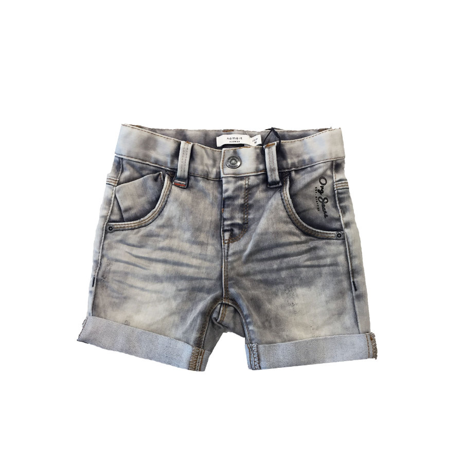 name it Boys Short en denim gris foncé