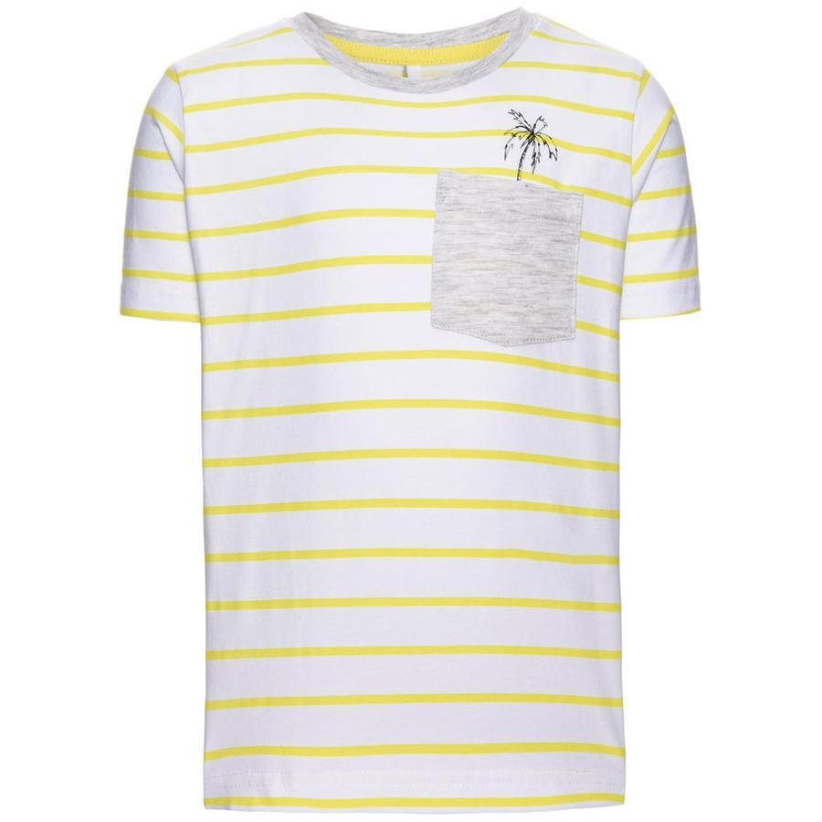 name it Boys T-Shirt Denzel blanco brillante