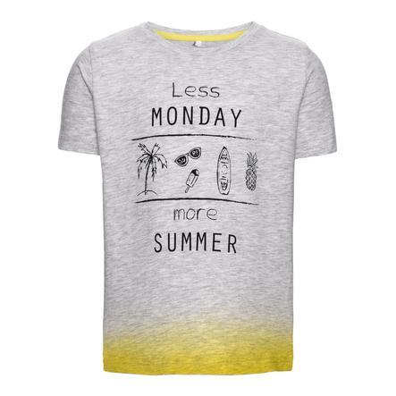 name it Boys T-Shirt Denzel grigio chiaro melange