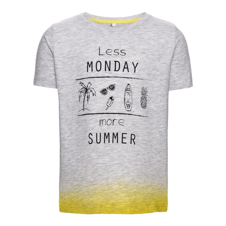 name it T-shirt Denzel ljusgrå melange