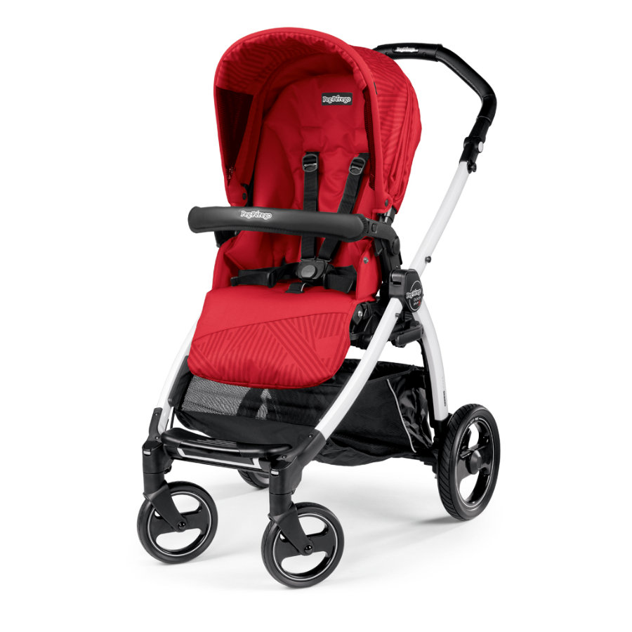 Peg-Perego Poussette sport Book S blanc Geo Red
