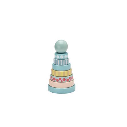 KIDS CONCEPT Torre de anillos EDVIN verde