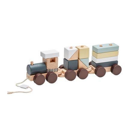 Děti koncept Vlak s dřevěnými bloky Edvin