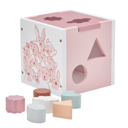 Kids Concept® Cubo con forme Edvin rosa