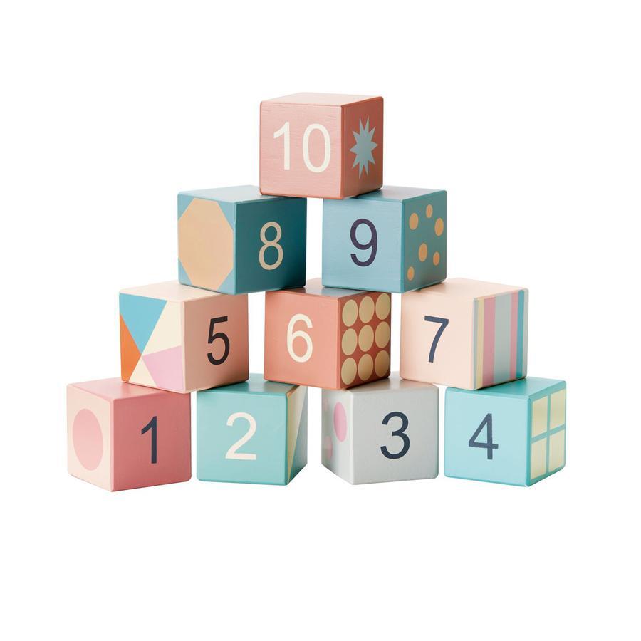 Kids Concept® Drewniane klocki Edvin, różnokolorowe