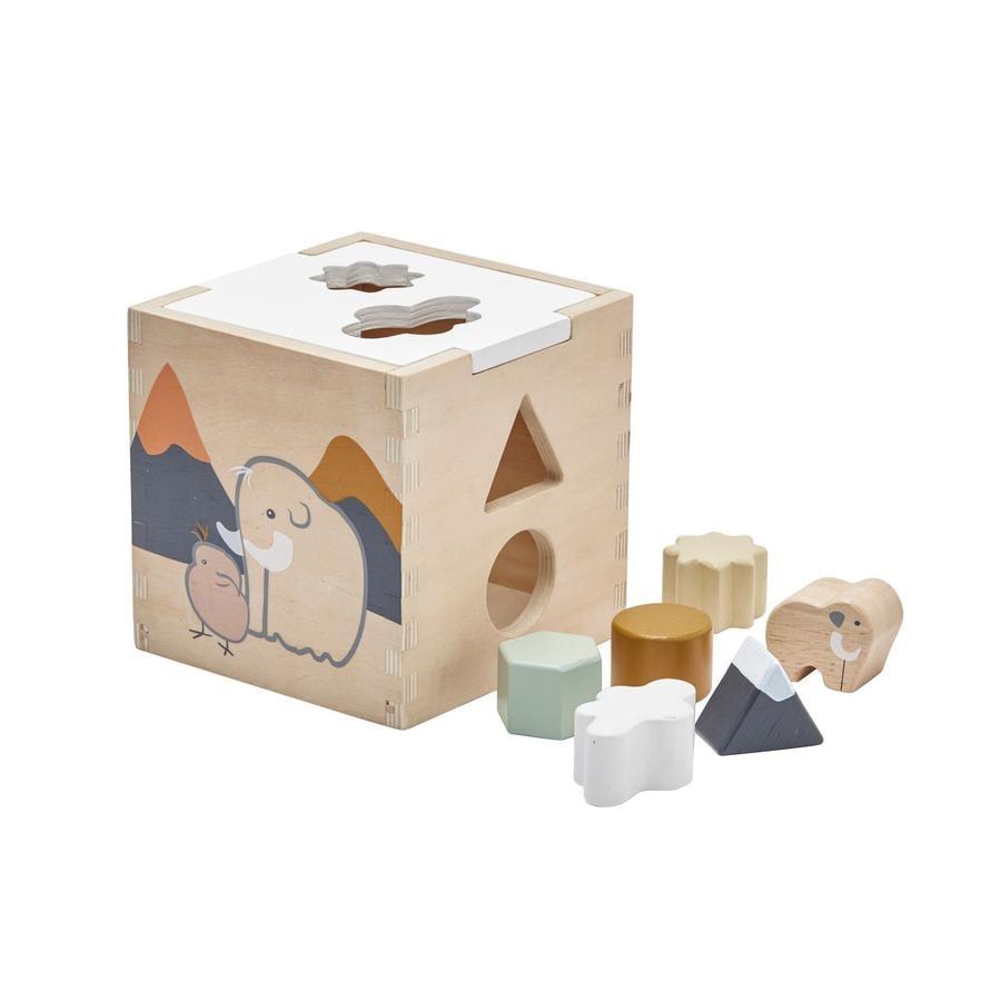 Kids Concept® Cubo con forme Neo, legno naturale