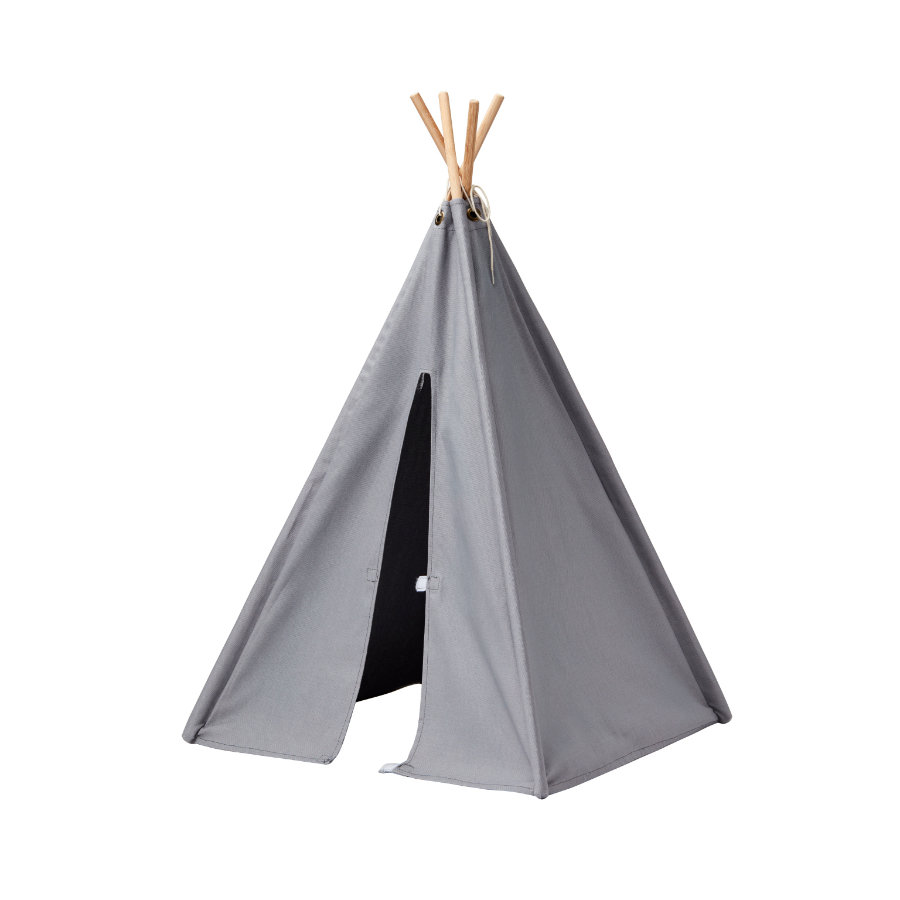 kids concept mini tipi zelt grau. Black Bedroom Furniture Sets. Home Design Ideas