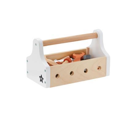 Kids Concept® Boîte à outils enfant NEO bois, naturel/blanc