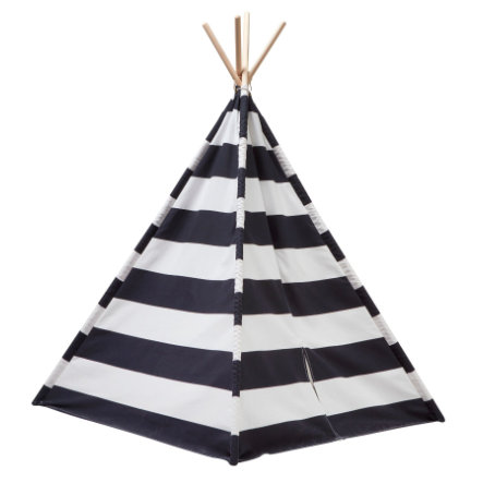 Kids Concept® Namiot tipt, czarny/biały