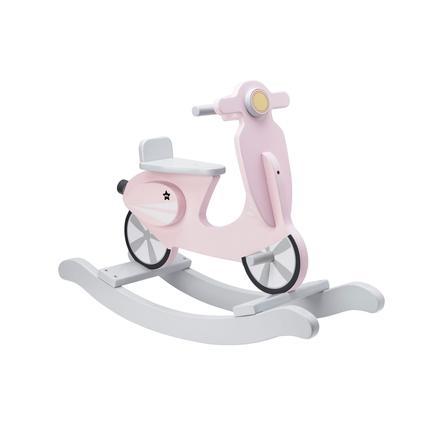 Kids Concept® Scooter a dondolo, rosa/bianco
