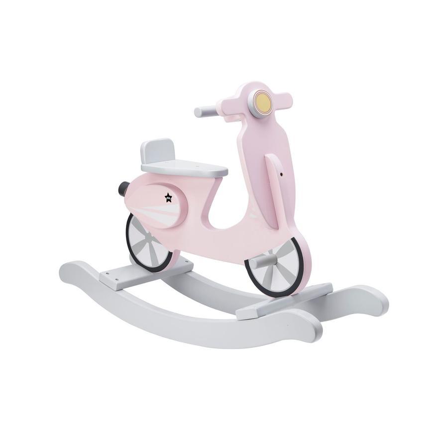 Kids Concept® houpací skútr bílý, růžový
