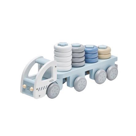 Kids Concept® Lastebil med stableringer, blå