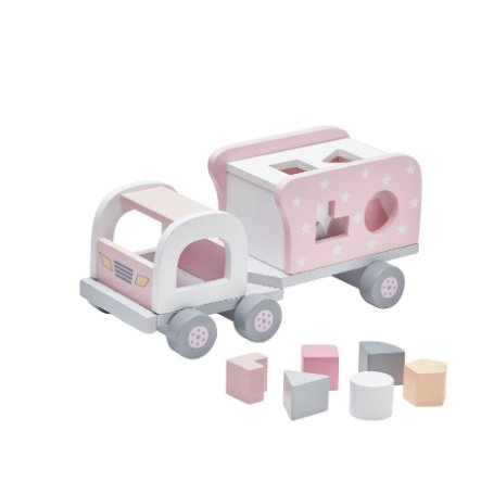 Kids Concept® Steckspiel Laster Star rosa