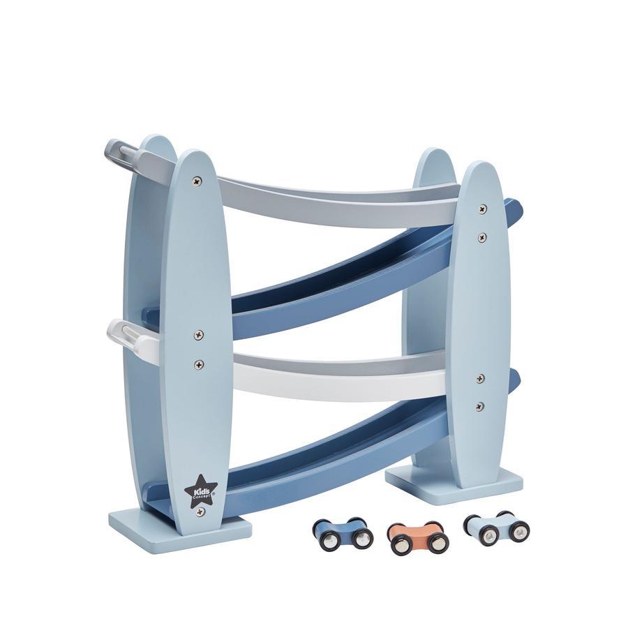 KIDS CONCEPT Kugelbahn blau, inkl. Autos