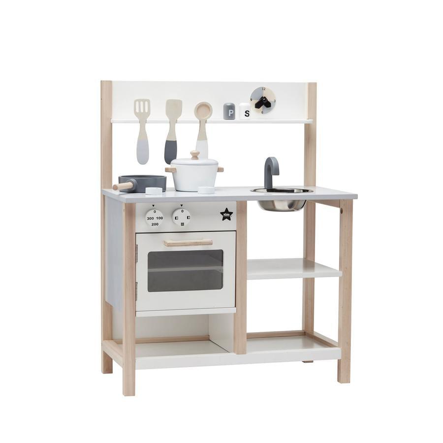 Kids Concept® dětská dřevěná kuchyňka bílá, šedá
