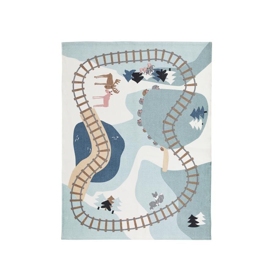 Kids Concept® Spielteppich Edvin, blau/grau