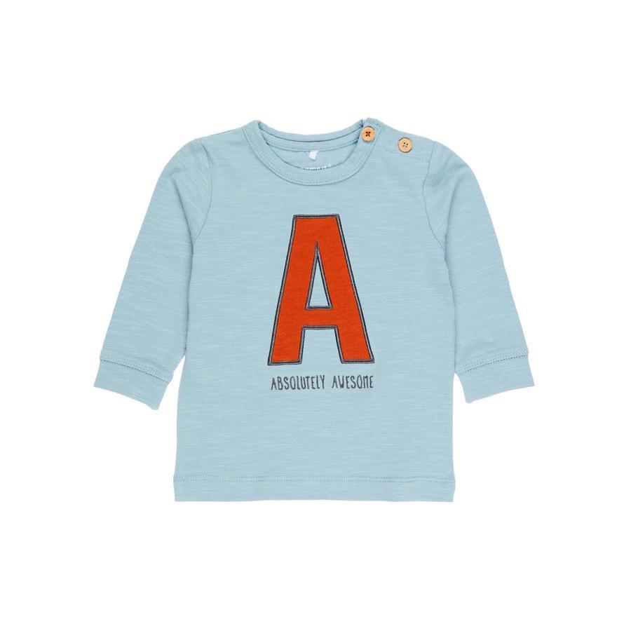 name it Boys Shirt met lange mouwen Etbirk steen blauw