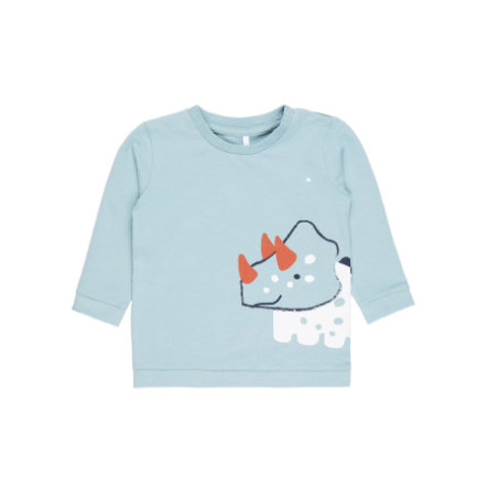 name it Boys Shirt met lange mouwen Etdag steen blauw