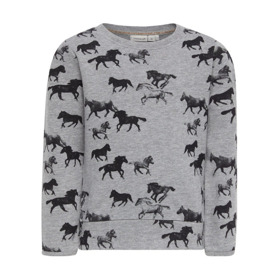 name it Girl s Sweatshirt Ditan gris mélangé